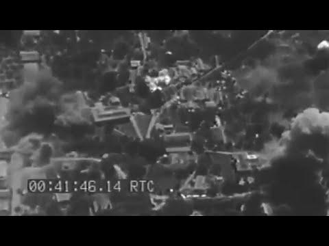Rabaul and Vicinity Overhead View of Air Raid Feb 1944 WW2 Footage (Silent)