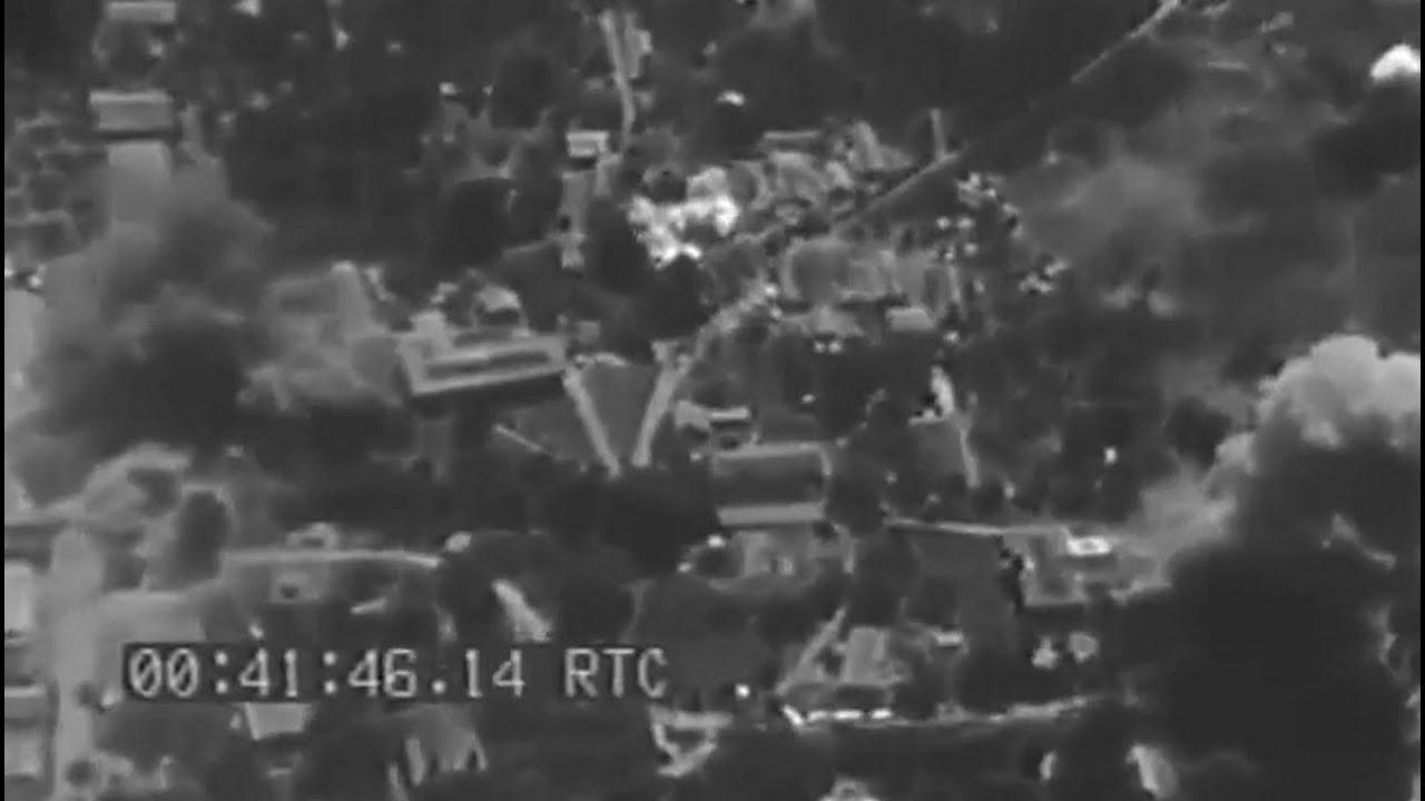 Rabaul And Vicinity Overhead View Of Air Raid Feb  Ww Footage Silent