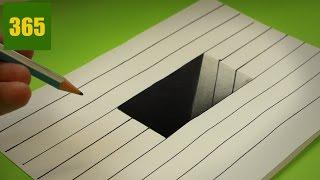 Comment dessiner une Illusion d'optique - Trou - Tutoriel