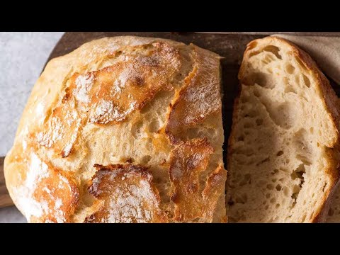World's Easiest Homemade Bread – Crusty Artisan style!!