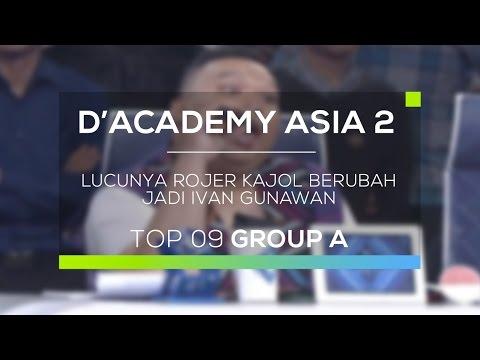 Lucunya Rojer Kajol Berubah jadi Ivan Gunawan (D'Academy Asia 2)