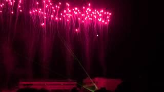 山口県 防府市にある 防府天満宮での花火大会の模様です。