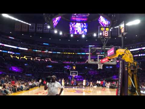 Floor Seats. Sixers vs Lakers @ Staples Center. March 22, 2015