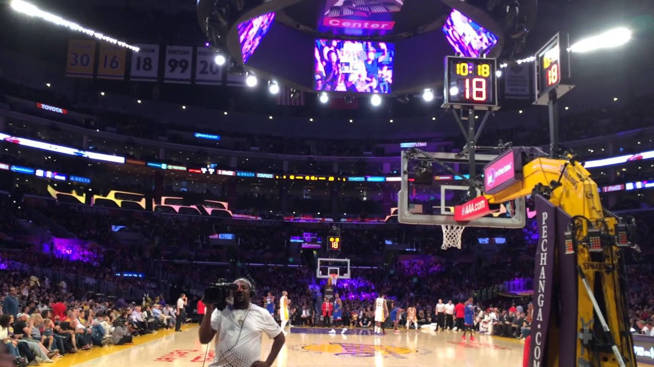 Floor Seats Sixers Vs Lakers Staples Center March 22