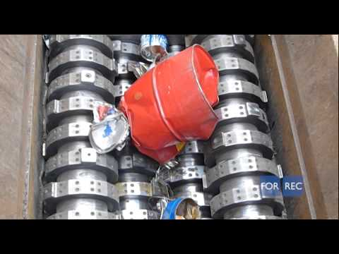 Four shaft shredder (TQ) for the recycling of Metal Scraps -