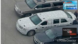 President Trump's new limousine looks almost ready for the road