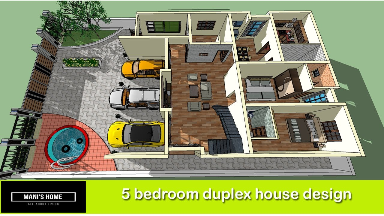 5 Bedroom Duplex House Design 5 Bhk House Design 5 Bedroom Home Design Plans Youtube