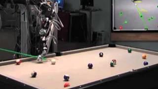 Pool-playing robot