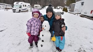 Familien-Winterurlaub auf dem Campingplatz