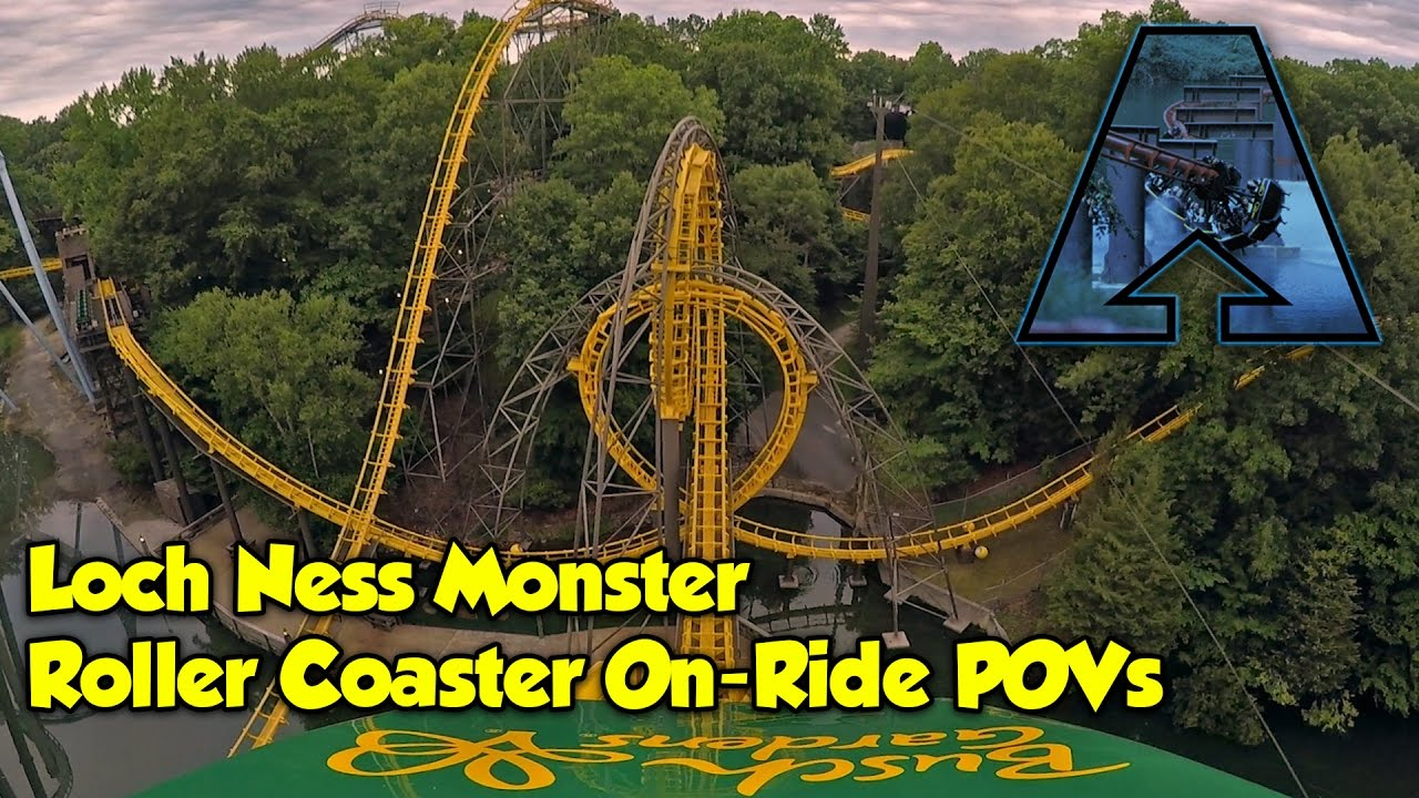 Loch ness monster roller coaster on ride povs busch - Busch gardens williamsburg rides ...
