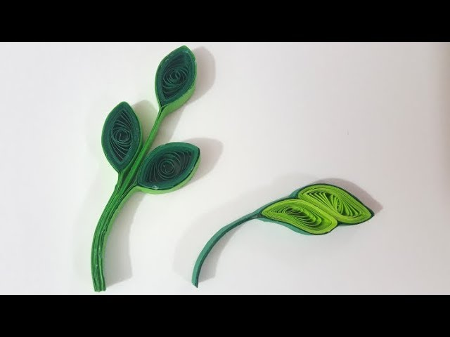 How to make quilling leaves
