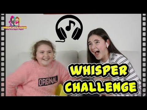WHISPER CHALLENGE  🇮🇹  PROVA A NON RIDERE   + REAZIONE by MARGHE GIULIA KAWAII