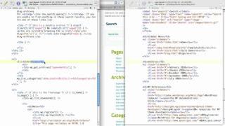 WordPress Tutorial: Customizing Sidebar 2/3 [HTML 2 WordPress]