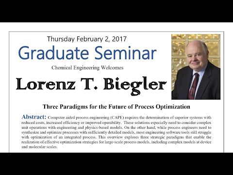 Larry Biegler: Three Paradigms for the Future of Process Optimization