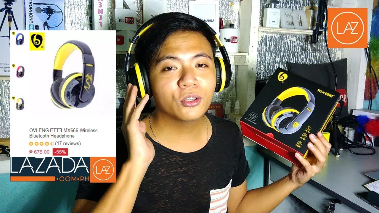 OVLENG MX666 Wireless Bluetooth Headphone Unboxing Review