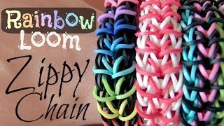 Rainbow Loom : Zippy Chain Bracelet - How To