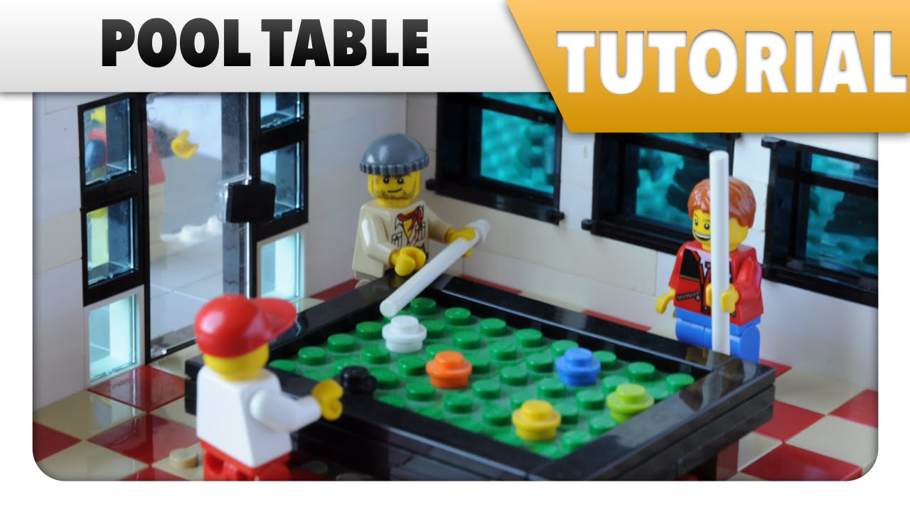 Tutorial how to make a lego pool table youtube for How to build a billiard table