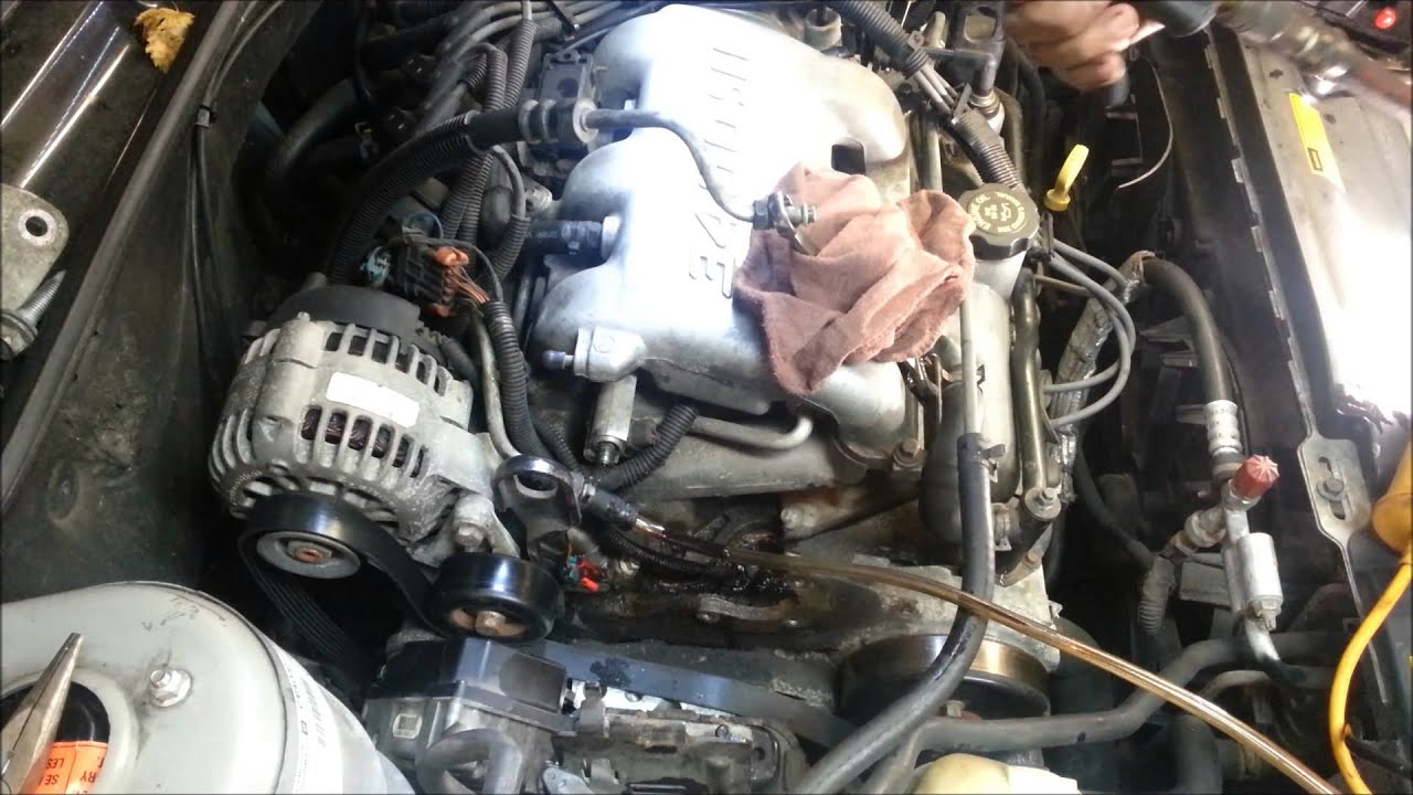 medium resolution of pontiac grand am olds alero 3 4 liter powersteering pump replacement