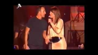 Helena Paparizou & Nikos Aliagas - Le Temps Des Fleurs (Live @ concert 2007)
