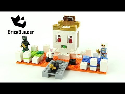 Lego Minecraft 21145 The Skull Arena - Lego Speed Build - YouTube 24b356890f