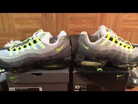 liebre victoria frutas  ShoeZeum Comparing OG 1995 Nike Air Max 95s With