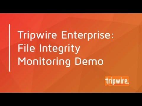 Tripwire Enterprise: File Integrity Monitoring Demo