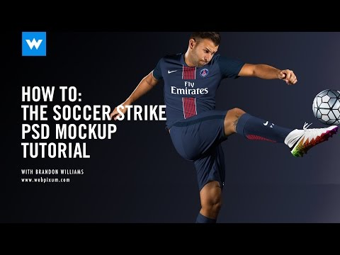 How To: The Soccer Strike PSD Mockup Process Video
