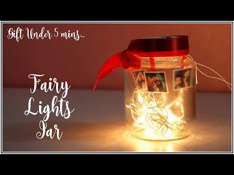 How To Make Fairy Lights Photograph Memory Jar Amazing Gift Idea Room Decor Idea For Diwali 2020 Youtube