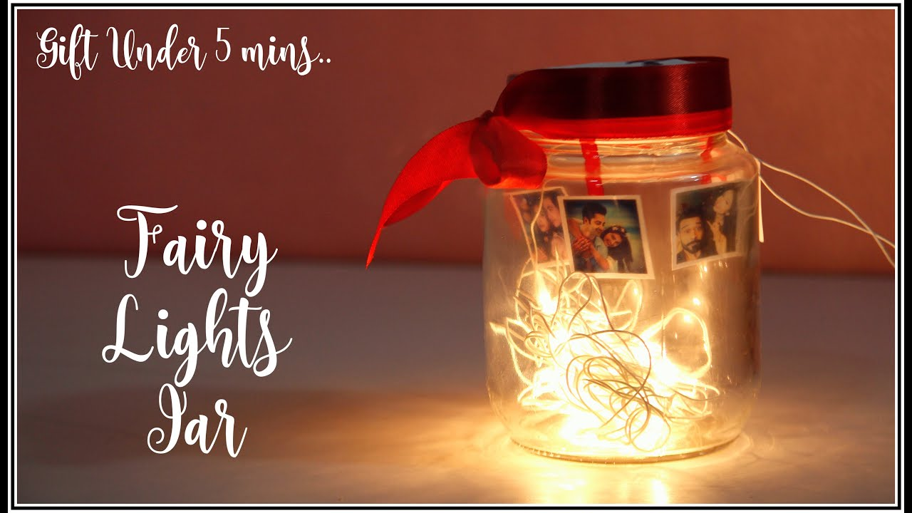 Diy Photo Fairy Light Jar 5 Mins Gift Idea Lastminutegifts Diygifts Handmadegifts Youtube