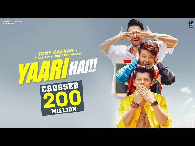 Yaari hai - Tony Kakkar | Siddharth Nigam | Riyaz Aly | Happy Friendship Day | Official Video