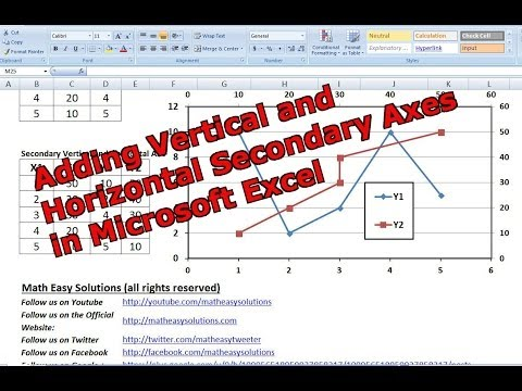 how to create x and y axis labels in excel