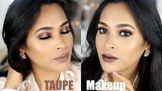 Taupe Makeup Tutorial No Eyeliner & Metallic Lipstick - MissLizHeart