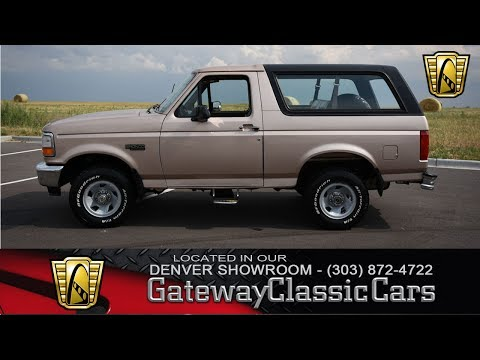 1996 Ford Bronco Now Featured In Our Denver Showroom #36-DEN