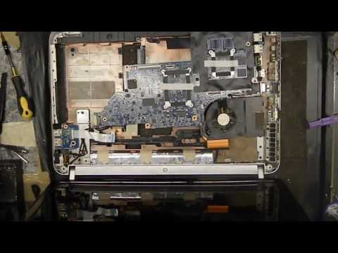 How to open and clean HP Pavilion dv6 i3 i5 i7   Overheating
