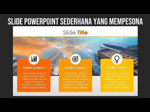 Slide PowerPoint Sederhana nan Mempesona
