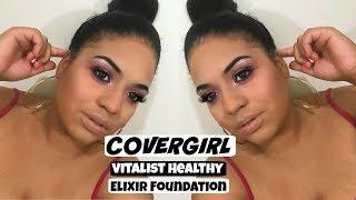 Video Worth IT?? COVERGIRL Vitalist Healthy Elixir Foundation Review | Crystal Britney download MP3, 3GP, MP4, WEBM, AVI, FLV Januari 2018