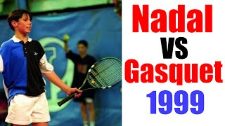 Rafael Nadal vs Richard Gasquet At 12 Years Old - Junior Tennis Players