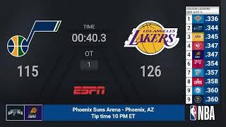 Jazz @ Lakers | NBA on ESPN Live Scoreboard