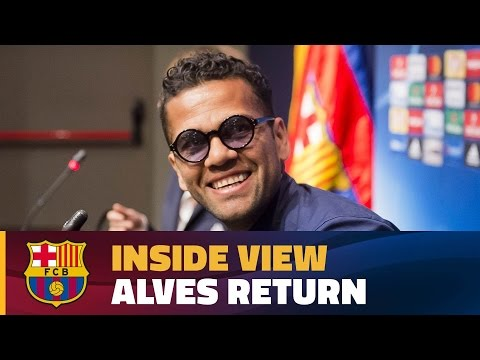 [BEHIND THE SCENES] Dani Alves returns to Barcelona