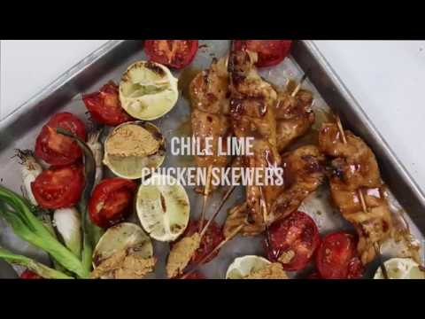 Chile Lime Chicken Skewers