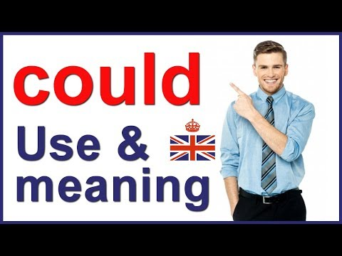 Modal verb COULD - form, use and meaning in English