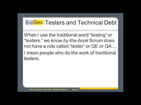 Technical Debt  - A Growing Problem for Testers