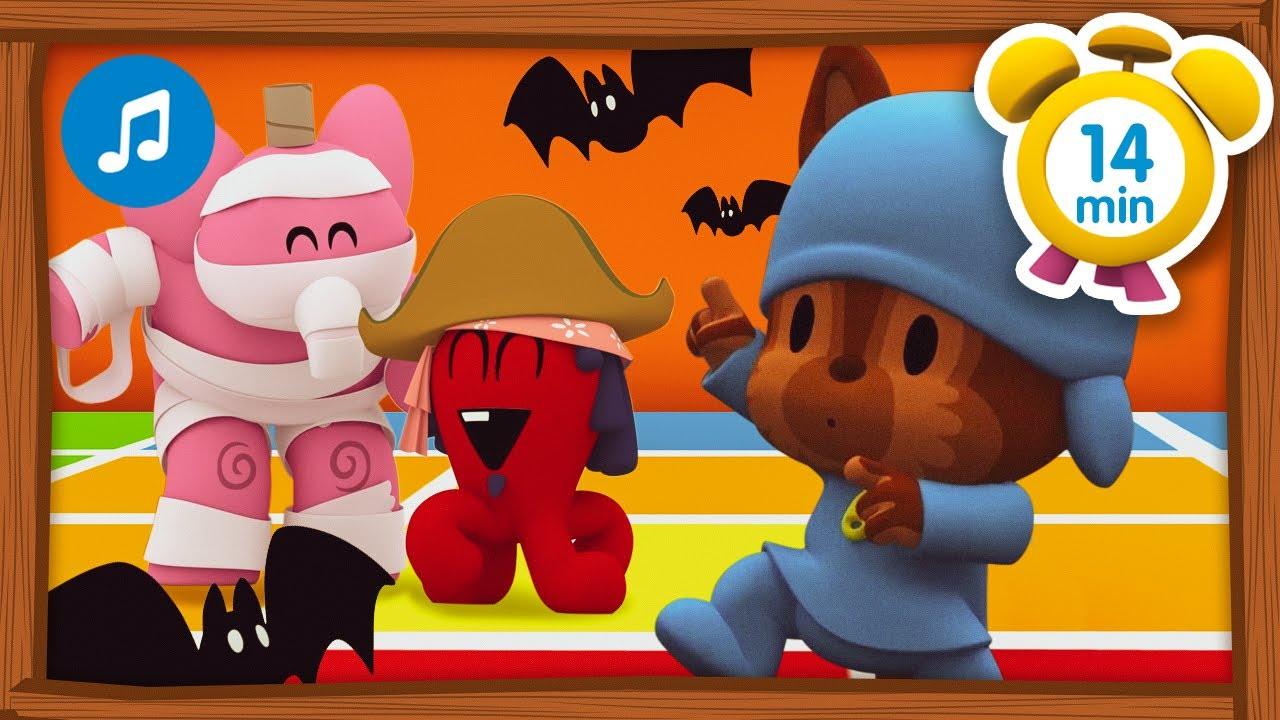 🎶🥳Fiesta de Halloween + Otras Canciones Infantiles [ 14 minutos ] | Música para Niños | Pocoyó