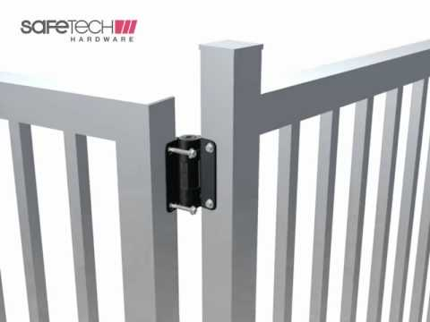SafeTech Self Closing Pool Gate Hinge Installation