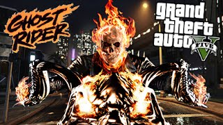 GTA 5 Mods - GHOST RIDER MOD! | GTA 5 Mods Gameplay