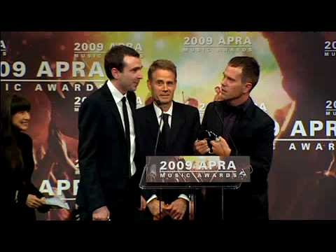 2009 APRA Music Award Winners - Songwriters of the Year - The Presets