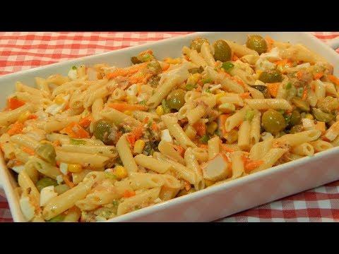 Receta de ensalada completa y sana de macarrones