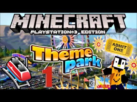 MINECRAFT PS3 FUNLAND THEME PARK LETS PLAY PART 1 W DOWNLOAD LINK