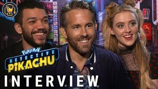 Pokémon: Detective Pikachu Exclusive Interviews with Ryan Reynolds, Justice Smith and More