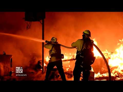 Wind-driven fires force California evacuations, turn homes to ash